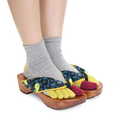 下駄と靴下のコーディネート2