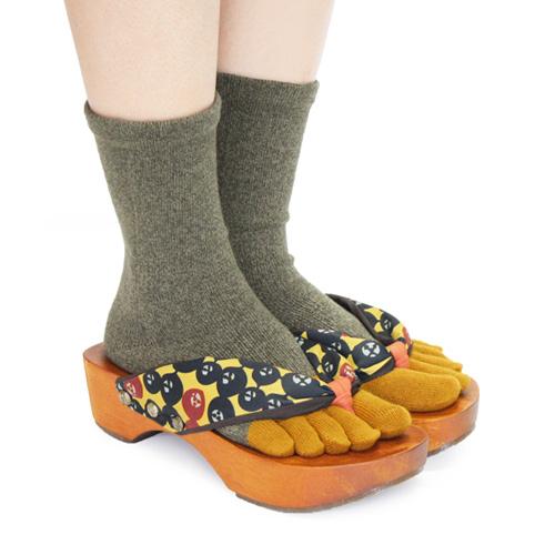下駄と靴下のコーディネート4